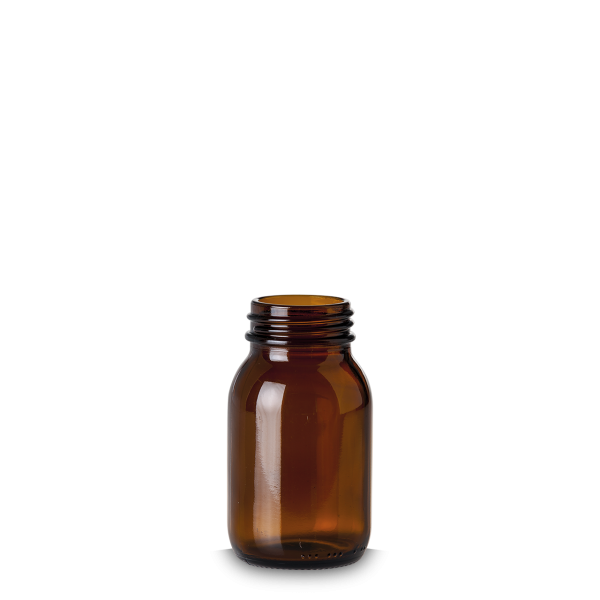 125 ml Weithalsglas - Braunglas - GL 40 Gewinde