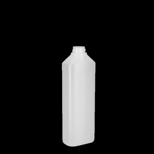 500 ml Ovalflasche PCR - natur - DIN 28