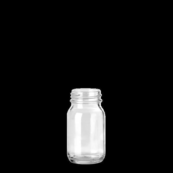 100 ml Weithalsglas - Klarglas - GL 40 Gewinde