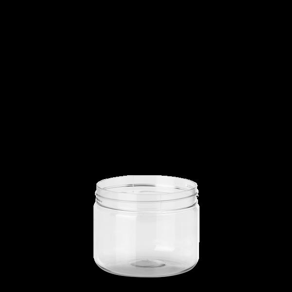 250 ml Weithalsdose - rund - klarsichtig
