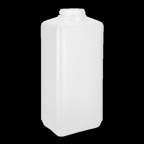 2500 ml Vierkantflasche - natur - DIN 60 Gewinde