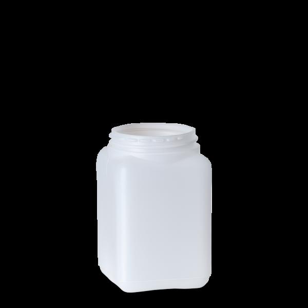 250 ml Dose - quadratisch - natur - DIN 80 Gewinde