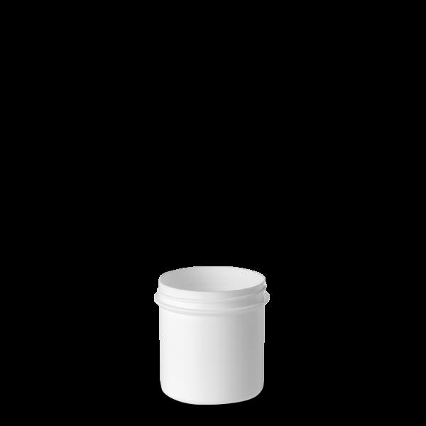 125 ml Schraubdose - rund - weiß - Gewinde 55 mm