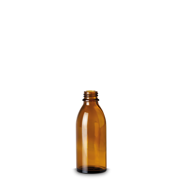 100 ml Enghalsglas - Braunglas - GL 22 Gewinde