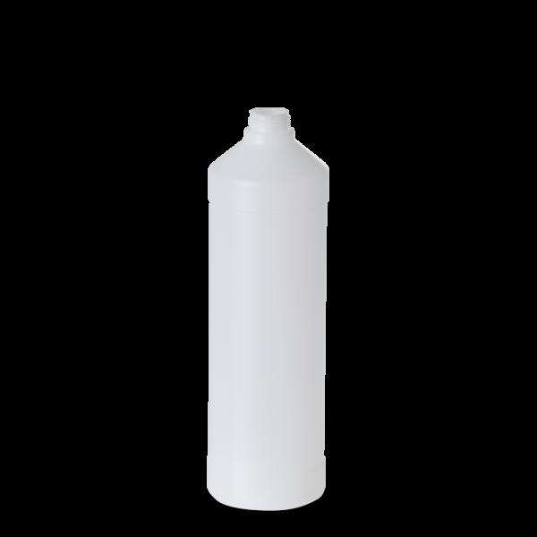 1000 ml Rundflasche - natur - DIN 28 Gewinde