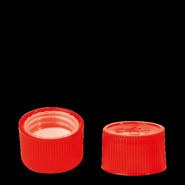 Drück & Dreh Verschluss - rot - DIN 28 Gewinde
