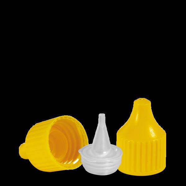 Verschluss Dosierspitze - gelb - DIN 18 Gewinde