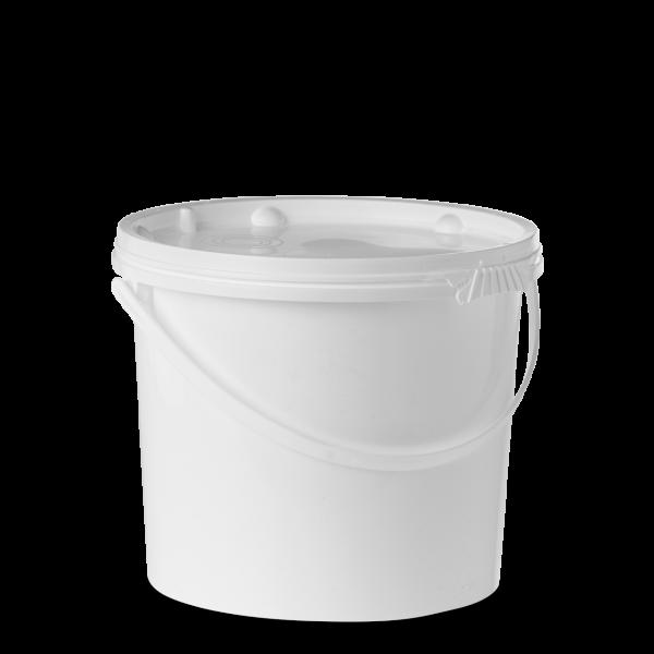 11 Liter Eimer - rund - weiß - UN-Y - incl. Deckel
