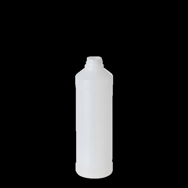 500 ml Rundflasche - natur - DIN 28 Gewinde