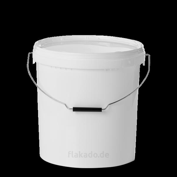 20 Liter Eimer - rund - weiß - ohne Deckel