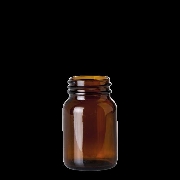 250 ml Weithalsglas - Braunglas - GL 55 Gewinde