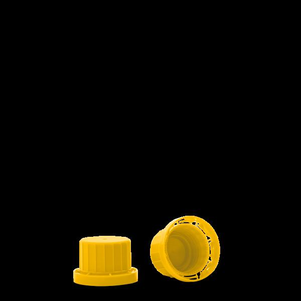 Originalitätsverschluss - gelb - OV 28 Gewinde