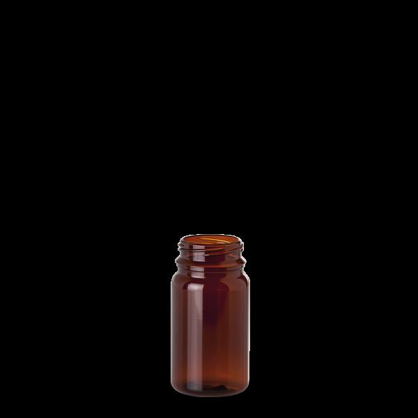 125 ml PET-Dose - rund - braun