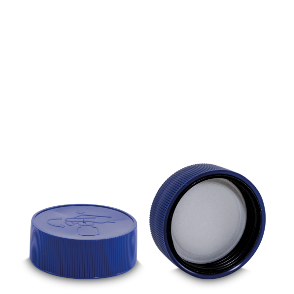 Drück & Dreh - Verschluss - blau - DIN 60 Gewinde