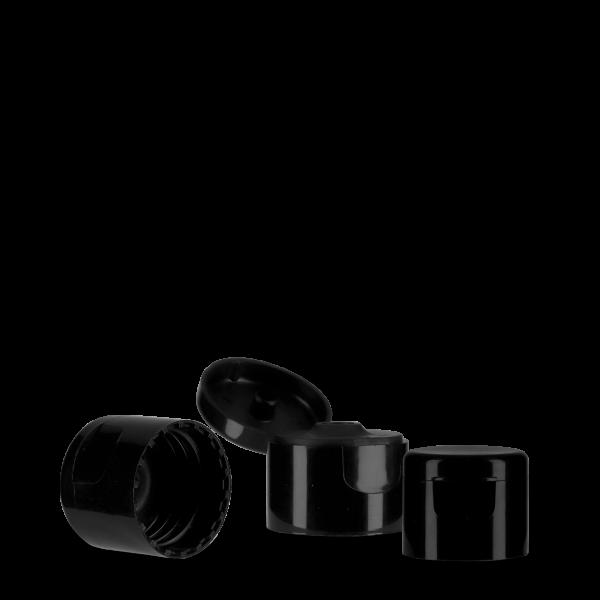 Klappscharnierverschluss - schwarz - 24/410