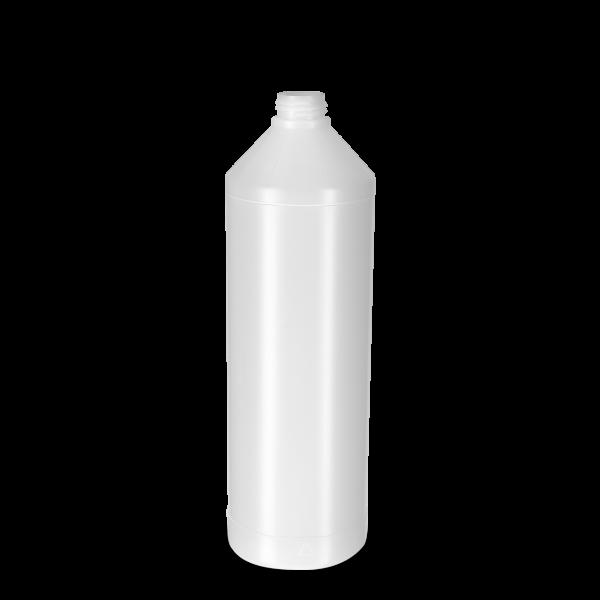 1000 ml Rundflasche PCR - natur - DIN 28