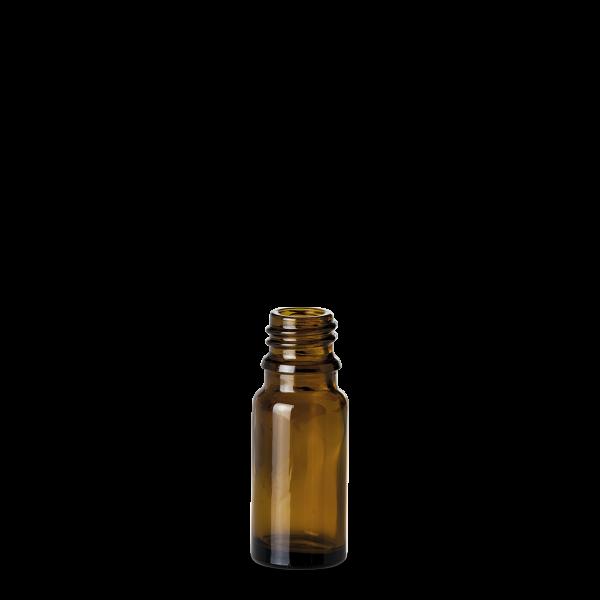 10 ml Allroundflasche - Braunglas - GL 18 Gewinde