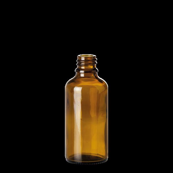 50 ml Allroundflasche - Braunglas - GL 18 Gewinde