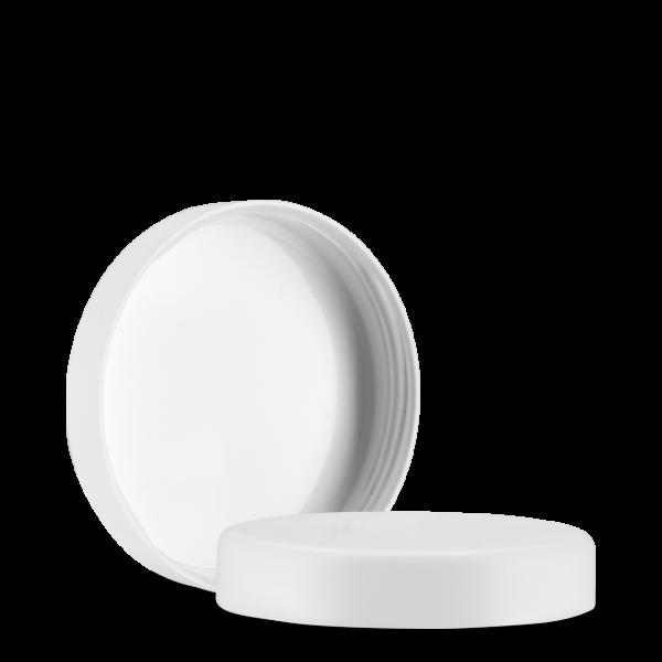 Kosmetikdeckel - weiß - 66 mm - matt abgerundet