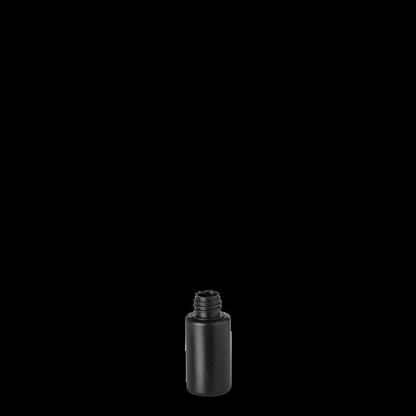 30 ml Rundflasche Liquid - schwarz - DIN18 Gewinde