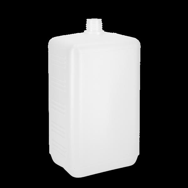 2000 ml Vierkantflasche - natur - DIN 25 Gewinde