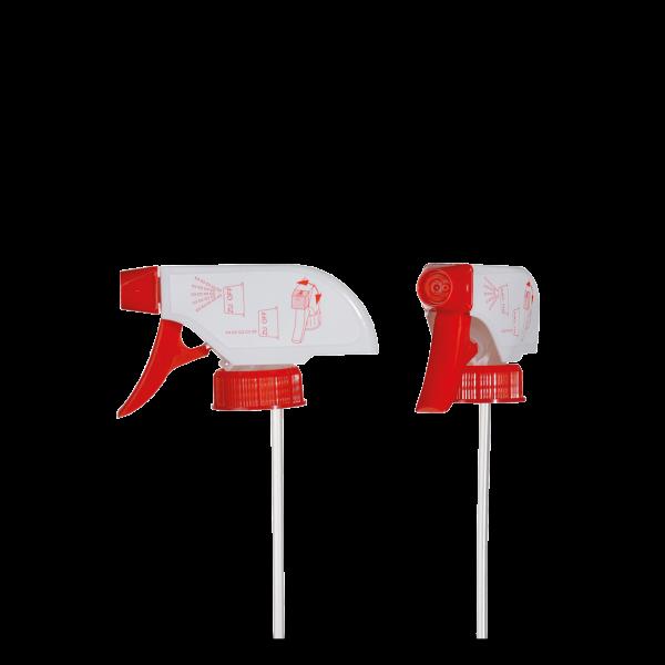 Sprühpistole - weiß / rot - DIN 28 Gewinde - 178mm