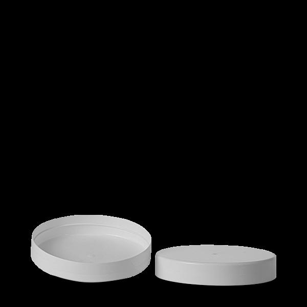 Schraubdeckel - PP - weiß - 110 mm Gewinde