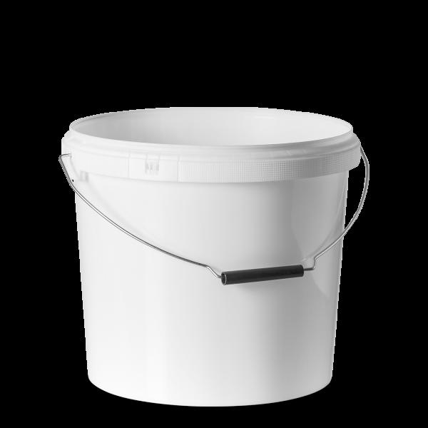 13 Liter Eimer - rund - weiß - ohne Deckel