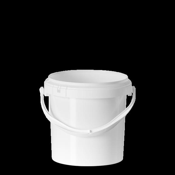 5 Liter Eimer - weiß - rund - ohne Deckel