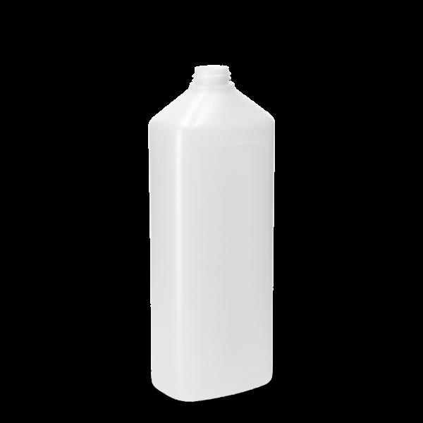 1000 ml Ovalflasche PCR HDPE - natur - DIN 28