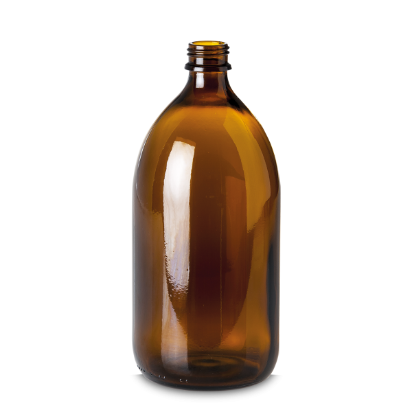 1000 ml Enghalsglas - Braunglas - GL 28 Gewinde