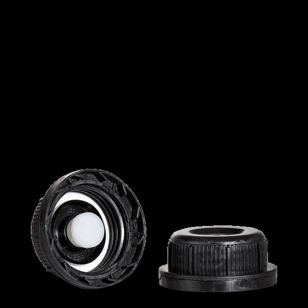 Entgasungsverschluss - schwarz - DIN 45 Gewinde