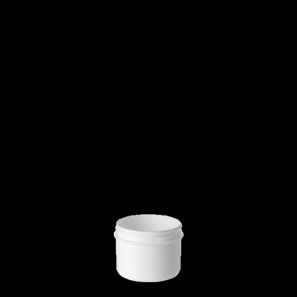 100 ml Schraubdose - rund - weiß - Gewinde 55 mm
