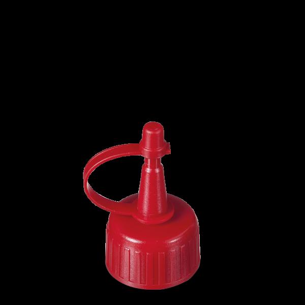 Spritzverschluss - rot - DIN 25 Gewinde
