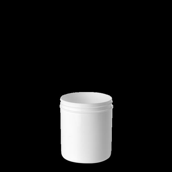 225 ml Schraubdose - rund - weiß - Gewinde 65 mm