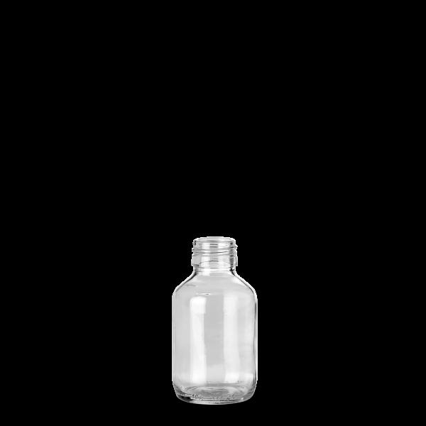 100 ml Verpackungsflasche - Klarglas - PP 28