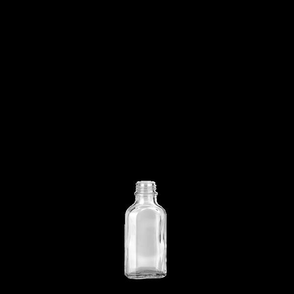 50 ml Meplatflasche - Klarglas - GL 22 Gewinde