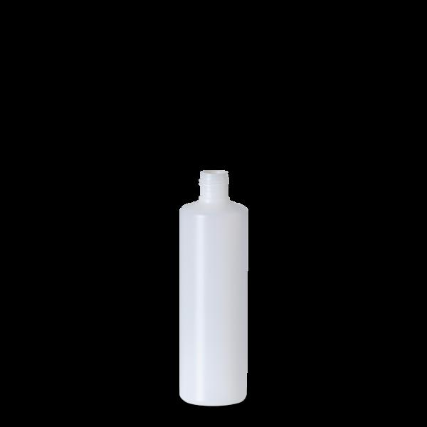 250 ml Rundflasche - natur - DIN 22 Gewinde