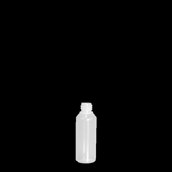 50 ml Rundflasche Liquid - natur - DIN 18 Gewinde