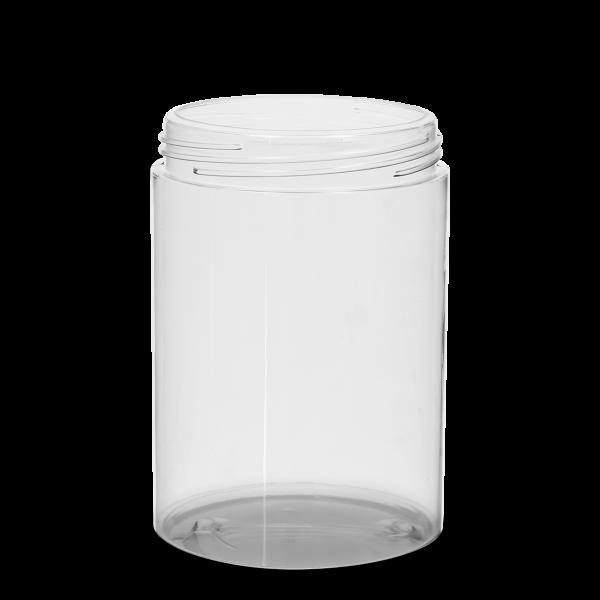 750 ml Weithalsdose - rund - klarsichtig