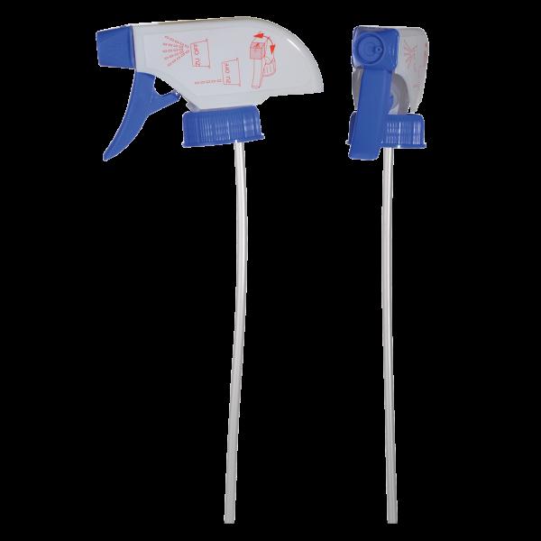 Sprühpistole - weiß/blau - DIN 28 Gewinde - 278mm