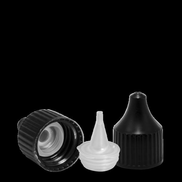 Verschluss Dosierspitze - schwarz - DIN 18 Gewinde