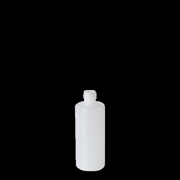 100 ml Rundflasche - natur - DIN 18 Gewinde