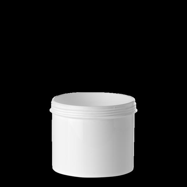 500 ml Schraubdose - rund - weiß - Gewinde 100 mm